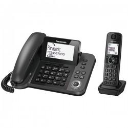 Ψηφιακό Τηλέφωνο Panasonic KX-TGF310EXM Μαύρο + Ασύρματο Ψηφιακό Τηλέφωνο
