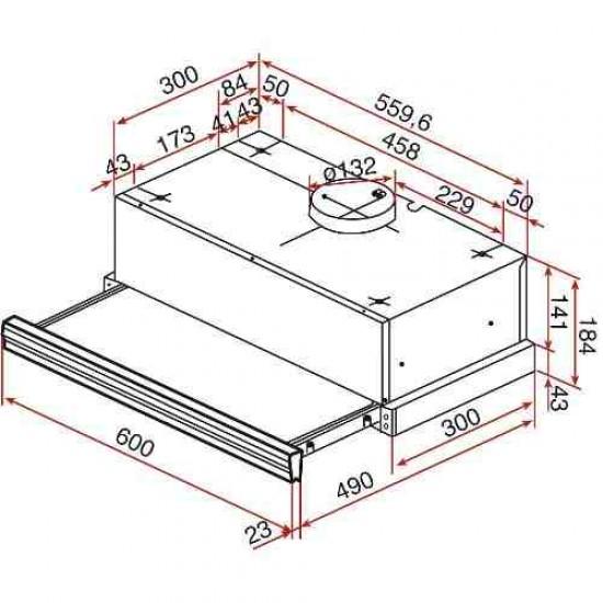 Απορροφητήρας Συρόμενος CNL 6400 INOX TEKA Απορροφητήρες Συρόμενοι - Euronics Georgiou - Είδη Ηλεκτρικών Συσκευών