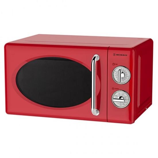 Φούρνος Μικροκυμάτων Morris MWRS-20700R Retro Red Φούρνοι μικροκυμάτων - Euronics Γεωργίου - Είδη Ηλεκτρικών Συσκευών   georgiou.gr