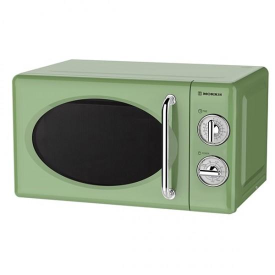 Φούρνος Μικροκυμάτων Morris MWRS-20702LG Retro Green Φούρνοι μικροκυμάτων - Euronics Γεωργίου - Είδη Ηλεκτρικών Συσκευών | georgiou.gr